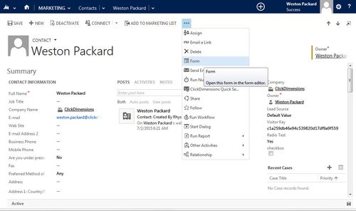 Adding a Sub Grid of Related Records to Your Dynamics CRM Contacts