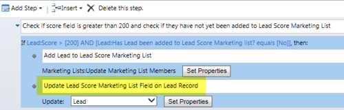 Update Lead Record Workflow Step