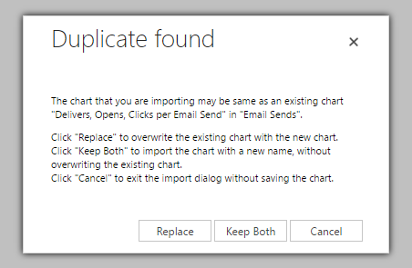 Crm chart replace prompt