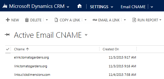 EmailCNAME