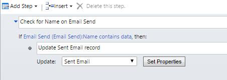 Workflow - Update Sent Email