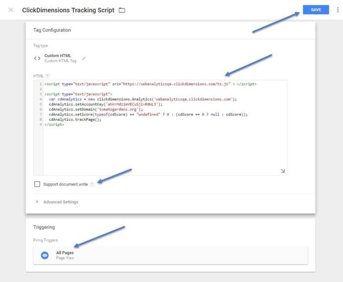 ClickDimensions Tracking Script